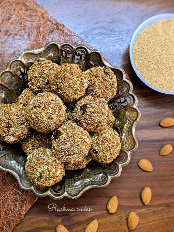 high protein popped amaranth balls