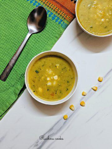 sweet corn vegetable soup