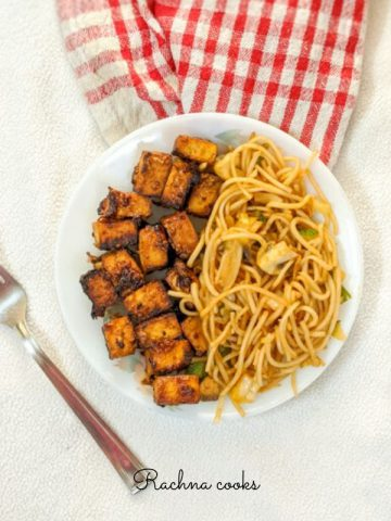 air fryer teriyaki tofu