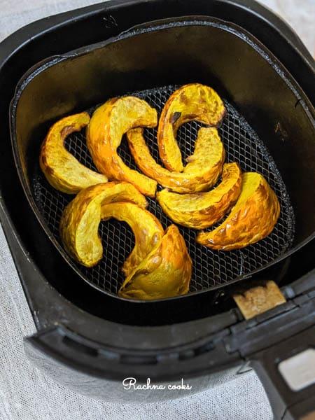 roasted pumpkin wedges in air fryer