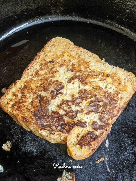 french toast slice in a skillet