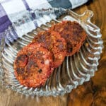 red beetroot tikkis on a brown background.