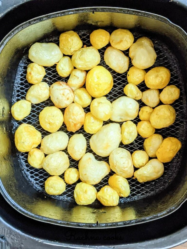 baby potatoes after air frying