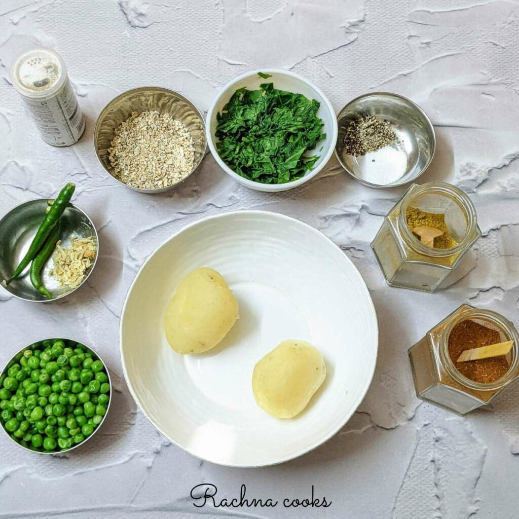 ingredients for making hara bhara kabab