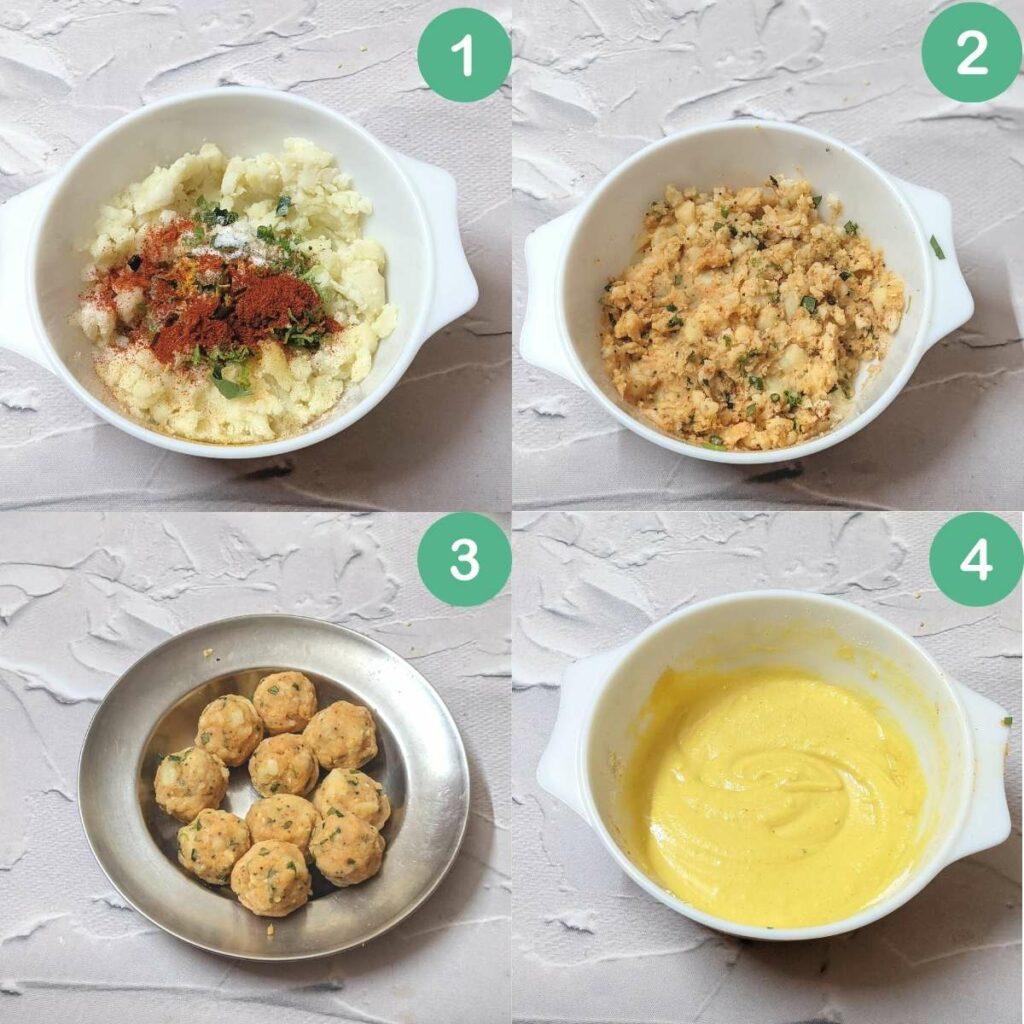 Process shots for making batata vada