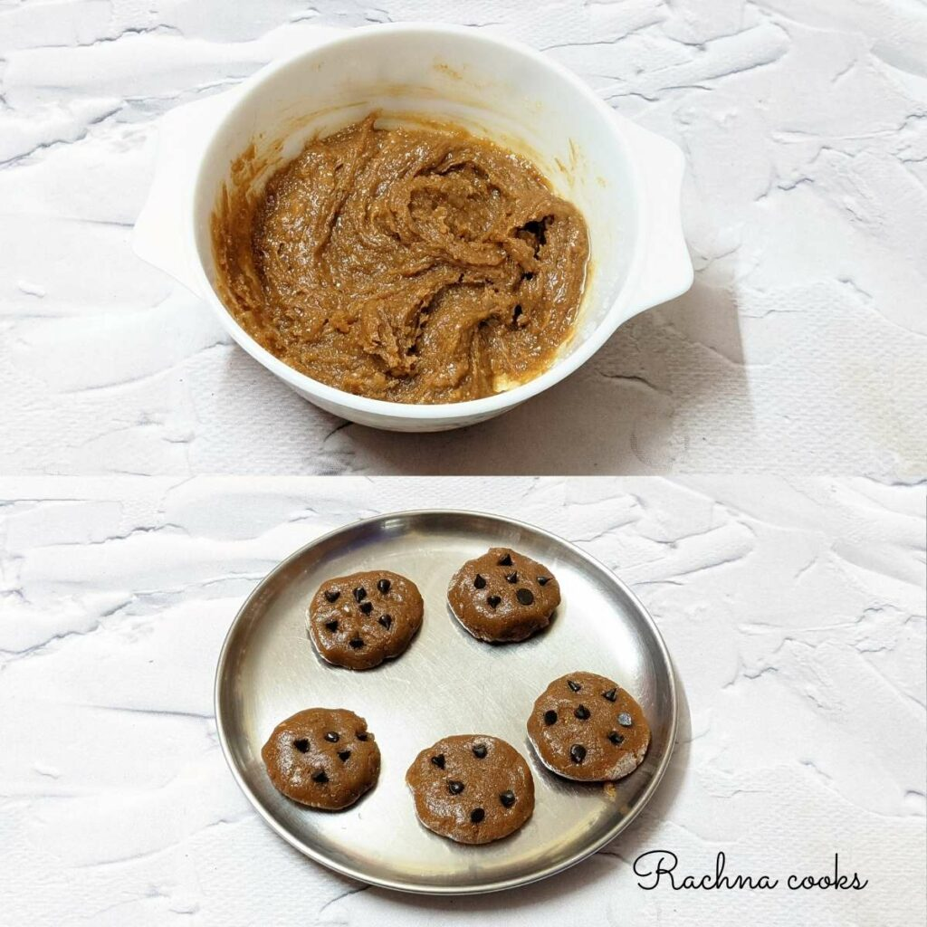 Process shots to make peanut butter cookies