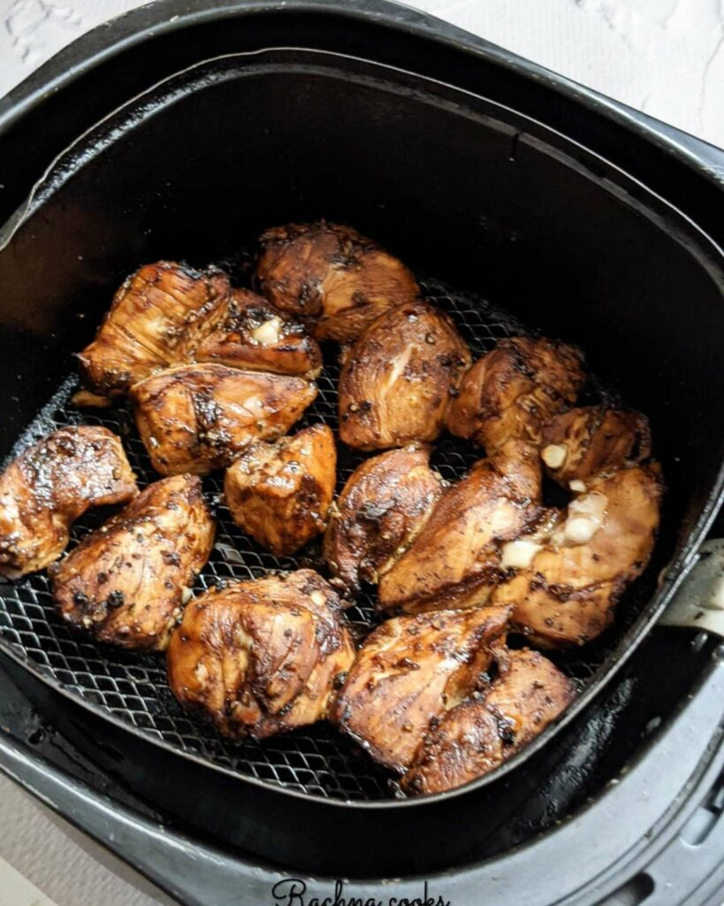 Teriyaki chicken done in air fryer