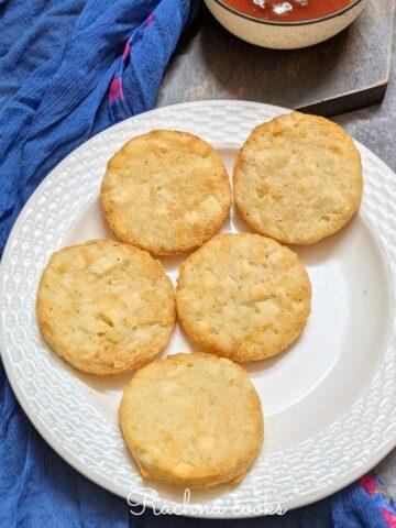 Crispy brown hash brown patties done in air fryer